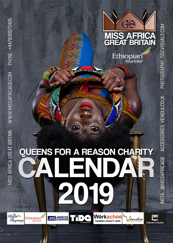 miss africa gb uk calendar 2019