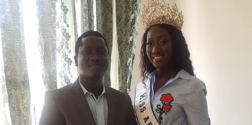 MISS AFRICA GB  LEILAS COURTESY CALL ON SECRETARY OF STATE(CULTURE)