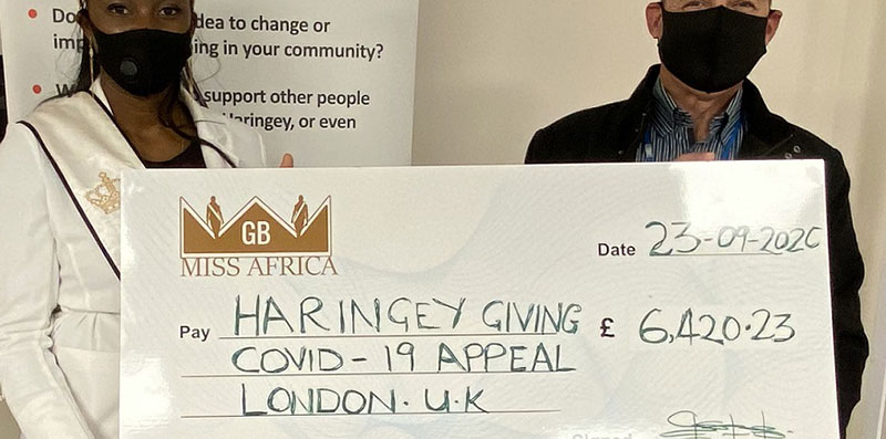 MISS AFRICA GB DONATES £6,420 TO COVID-19 APPEAL