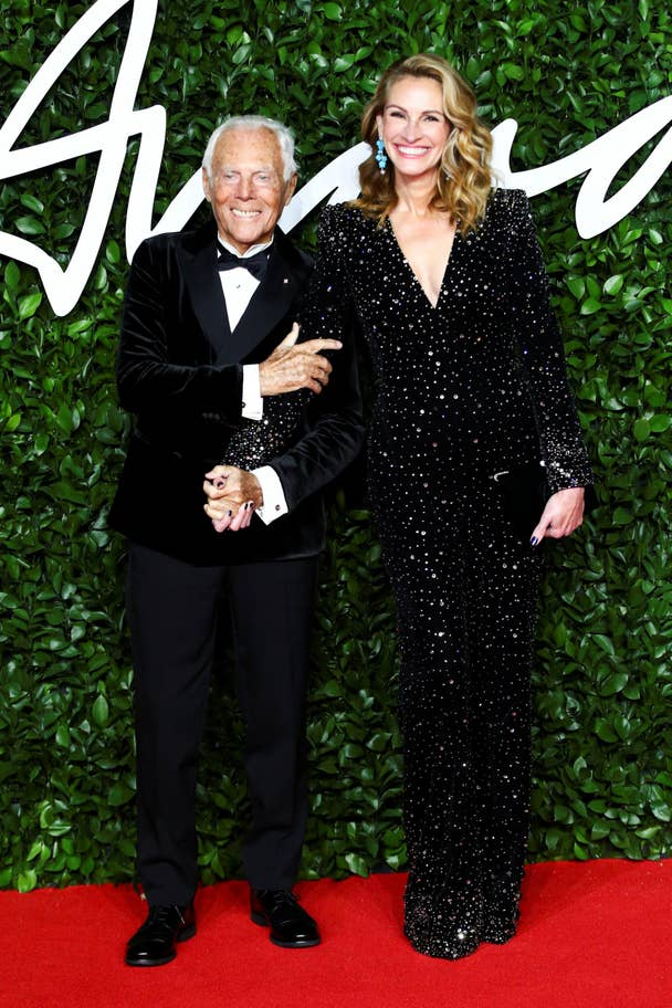 fashion awards giorgio armani Julia Roberts